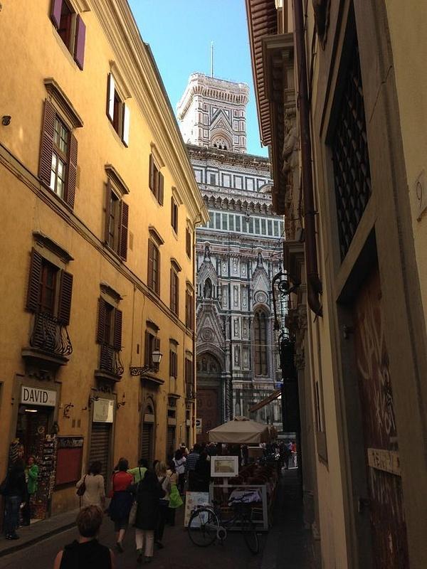 View from street to Santa Maria del Fiore i.e. Il Duomo
