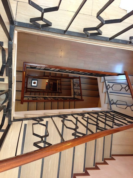 Hotel stair to the 6th floor by BradAndDebbie