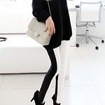 Black White Slim Leggings