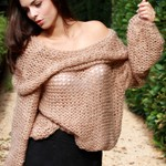 Cowl Neck Sweater - Camel