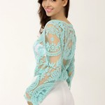 Crochet Lace Top - Teal