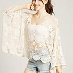 Oversize Batwing Crochet Top