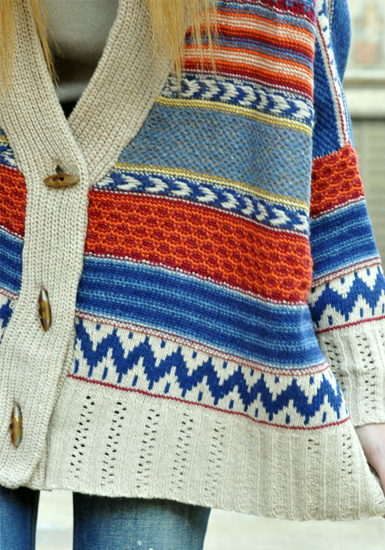 Vintage Stripe Sweater by LookBookStore
