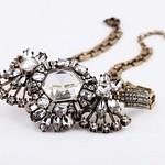Flower Pendant Necklace - Clear
