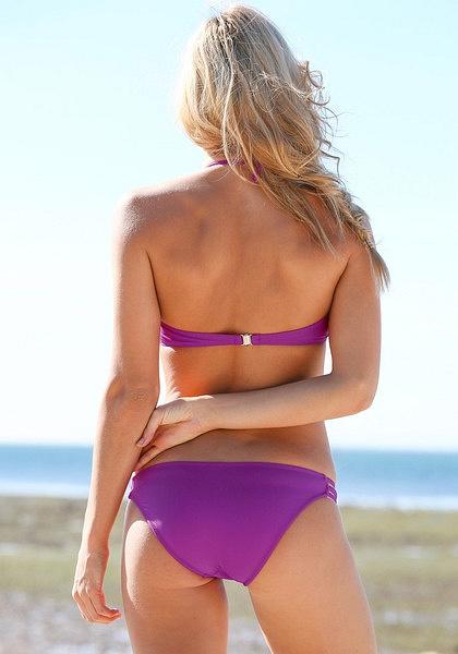 Caged Cutout Bikini Set - Purple by LookBookStore