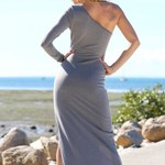 One Shoulder Dress - Grey
