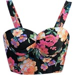 Floral Colorful Bustier - B