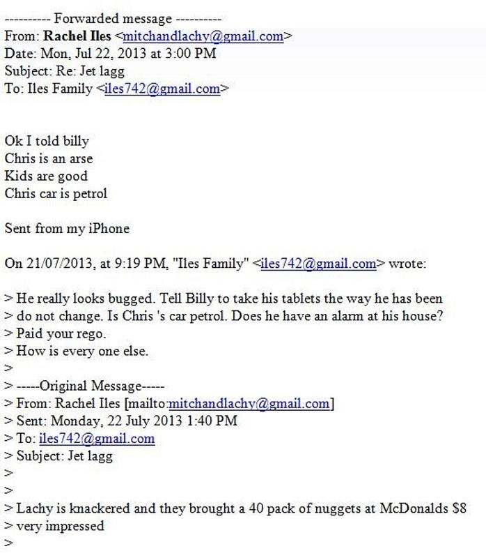Rachel Iles Email Original