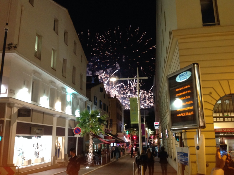 Festival of lights in Cannes