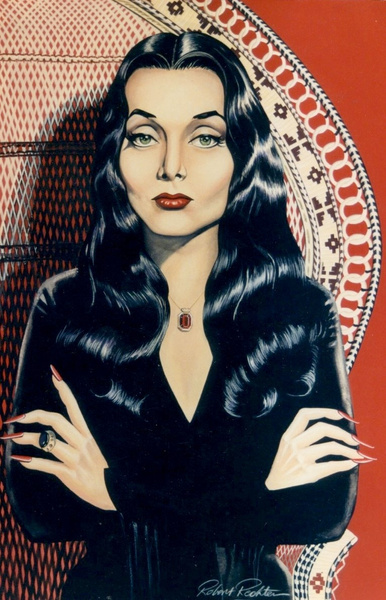 MORTICIA_Carolyn_Jones_by_ROBERT_RECHTER_ by AngieSmith47433