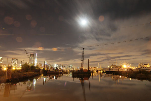 Super Moon, Jersey City by Neminem