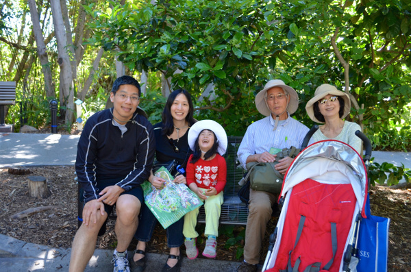 Alice's family visit Mar 2015 by Dorothy Liu