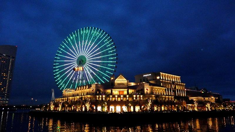 Night at the port - Yokohama