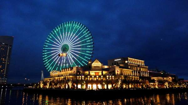 Night at the port - Yokohama