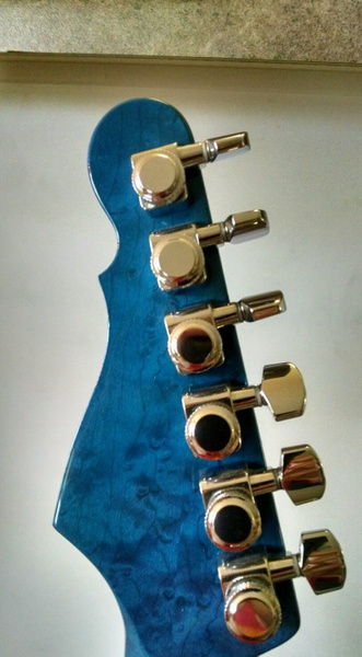 blue stained neck 3 by GeodeGuitars