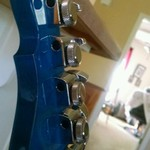 Blue stained G&L neck