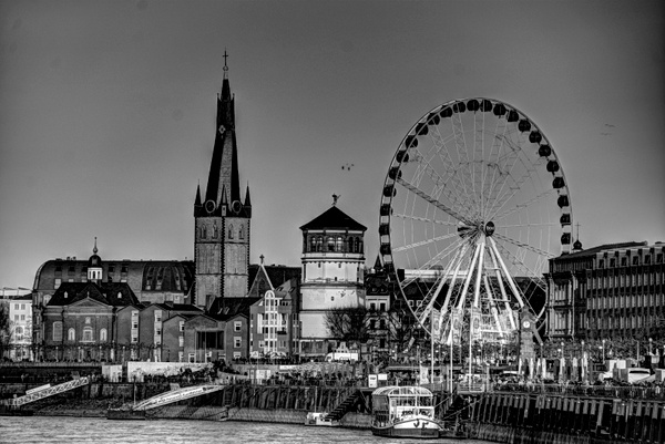 Duesseldorf old town view