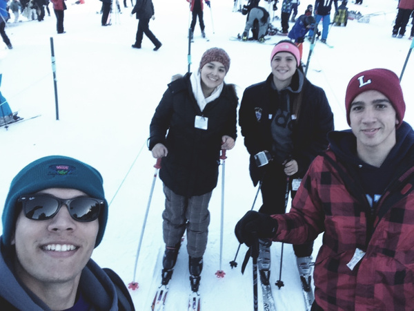 family skiing by JoseRodriguezPeriod2