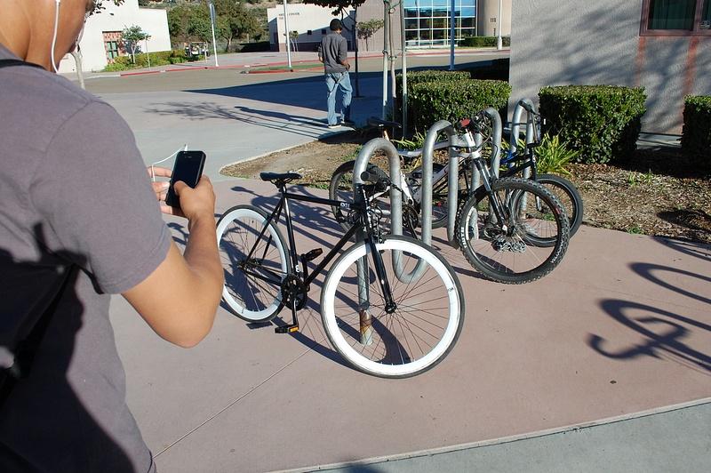 cool b&w bike