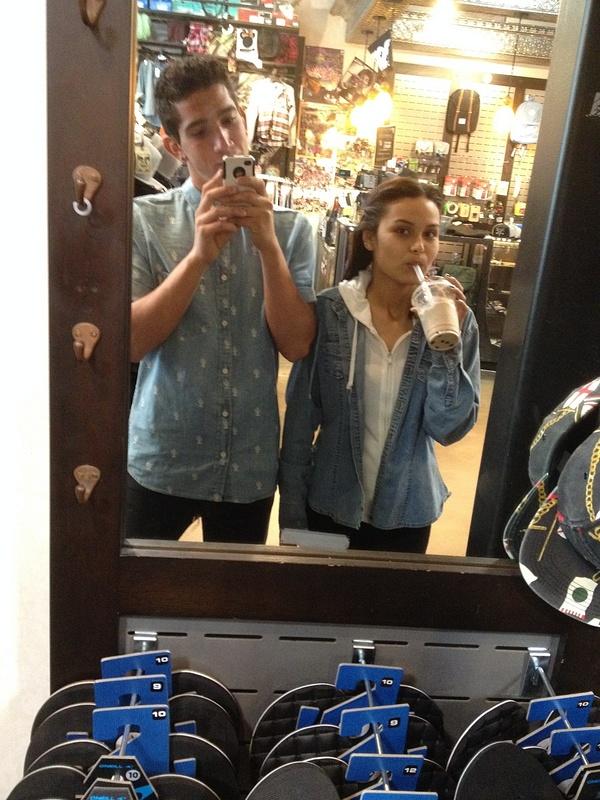 mirror selfie with laura