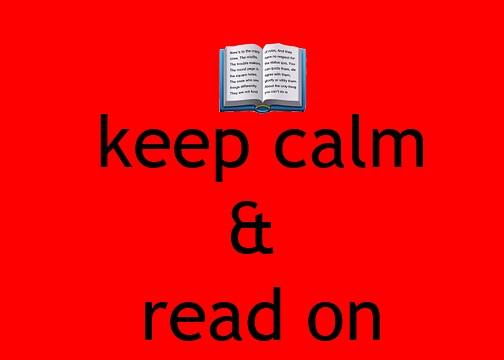 keep calm & read on