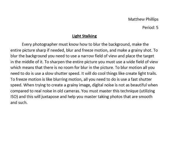 Light Stalking by MatthewPhillips54989