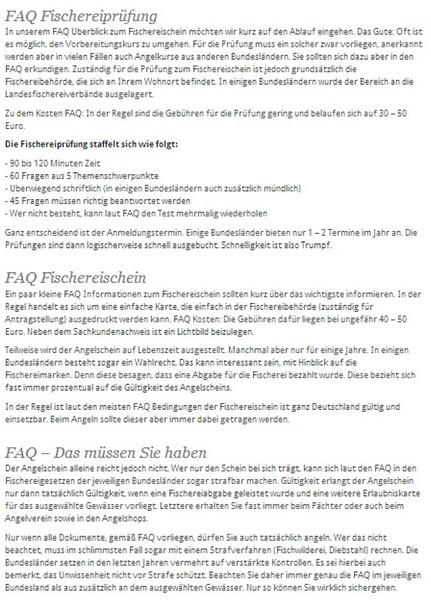FAQ - Angelschein und Prüfung by User11700838