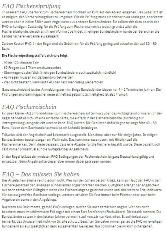 FAQ - Angelschein und Prüfung