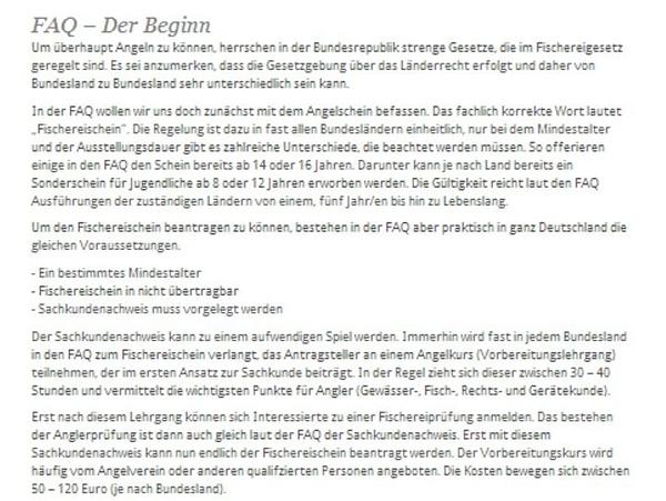 FAQ - Der Beginn by User11700838