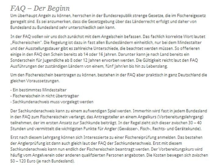 FAQ - Der Beginn