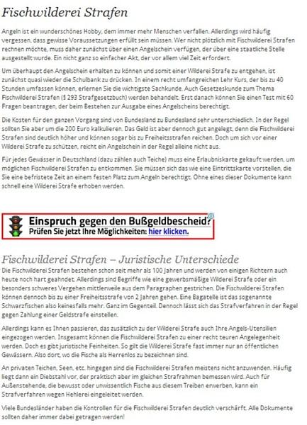 Fischwilderei Strafen by User11700838
