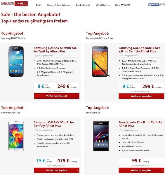 AY YILDIZ Handy Top Angebote by User11700838