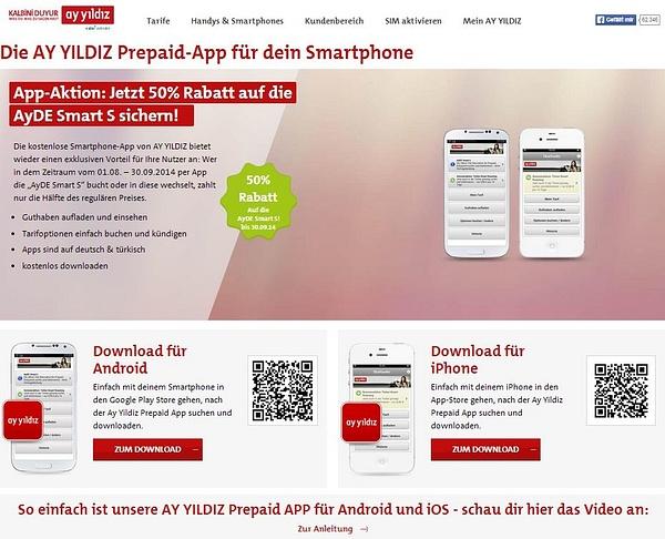 AY YILDIZ Prepaid App by User11700838