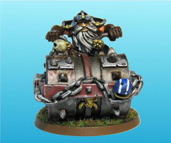 Dwarf on a Death Roller by Vusfnuv