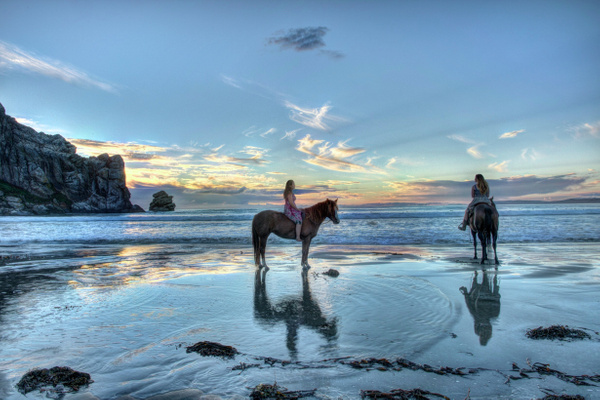 Riders at Sunset by Aurelia