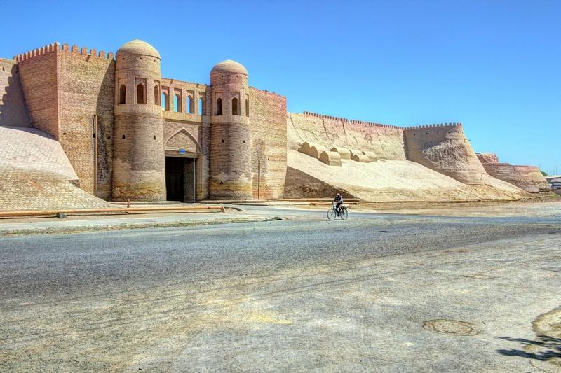 Riding outside of Khiva