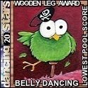 DWTS20 Wooden Leg Award beerbelly