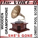 The Voice 8 Wooden Gramophone Jexter by pikachukiser