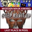 Face Off 9 Wooden Mask Award Arielflies by pikachukiser