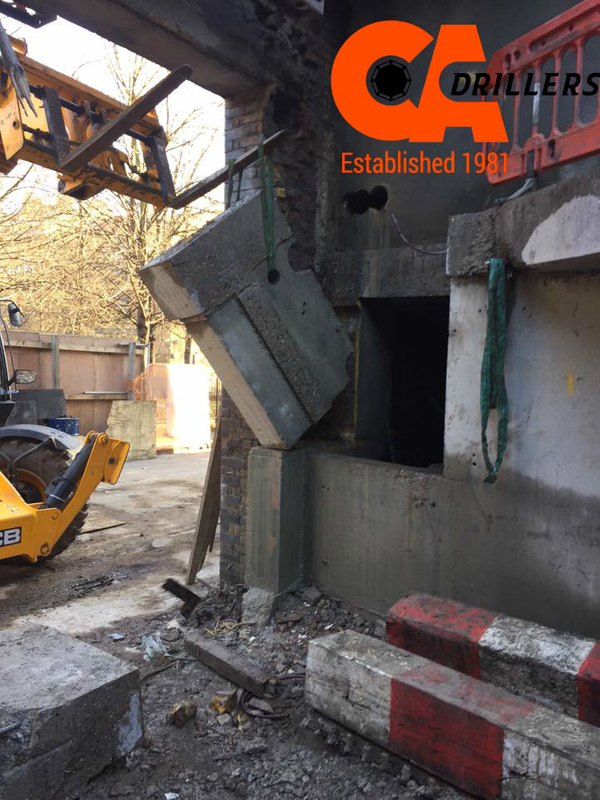 Removal of Concrete Slab from Building