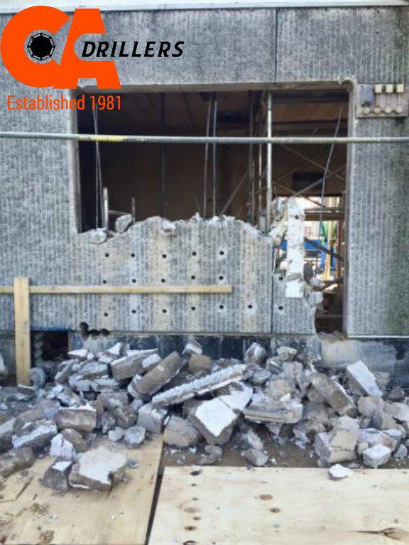 Breakout of Concrete using Hydraulic Bursting