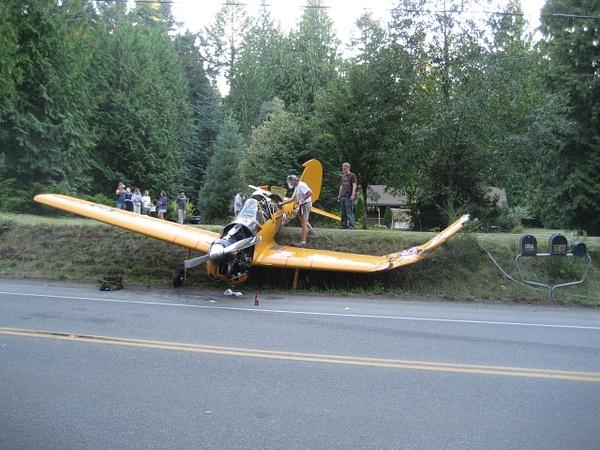 Single enginePlane Crash by PhotosByJesse