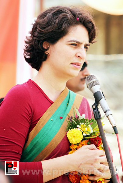 Priyanka Gandhi speaks by Pressbrief In by Pressbrief In