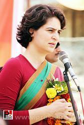 Priyanka Gandhi speaks