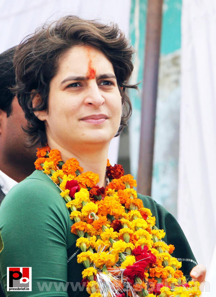 Latest photos of Priyanka Gandhi (2) by Pressbrief In