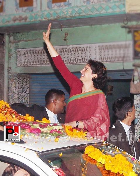 Congress star campaigner Priyanka Gandhi (21) by...