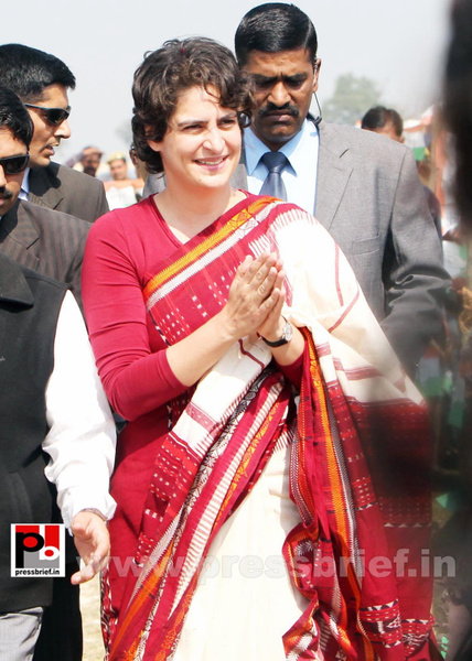 Congress star campaigner Priyanka Gandhi (20) by...