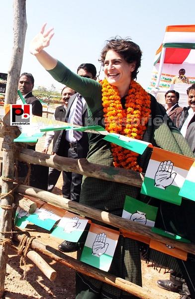 Congress star campaigner Priyanka Gandhi (22) by...