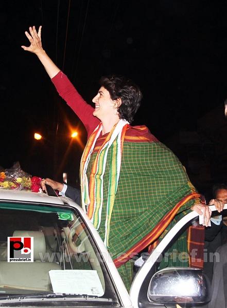 Congress star campaigner Priyanka Gandhi (13) by...