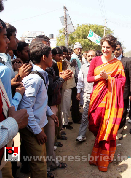 Congress star campaigner Priyanka Gandhi (11) by...